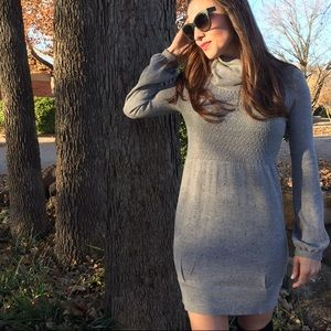 AQUA | Long Sleeve Turtleneck Sweater Dress